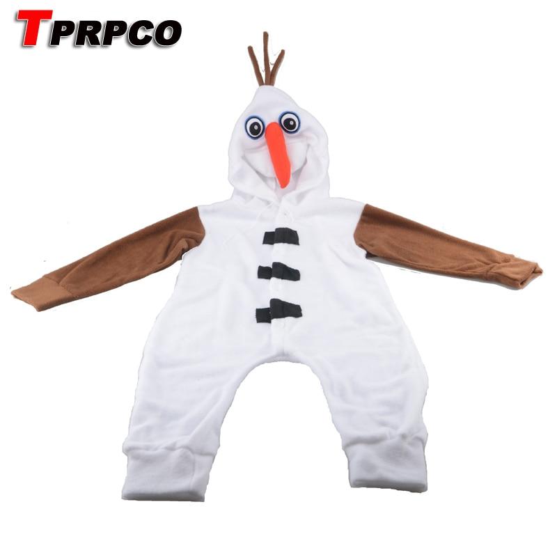 TPRPCO Anime Cos Olaf Snowman Cosplay Kids Children Boy Girl Unisex Pajama Onesie Party Halloween Costumes  Jumpsuits N149