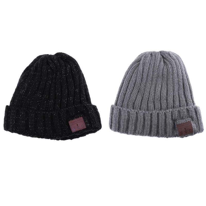 Unisex Winter Bluetooth4.0 Headset Flanging Hats Headphone Music Player Hat Earphone Acrylic Fibres Cap