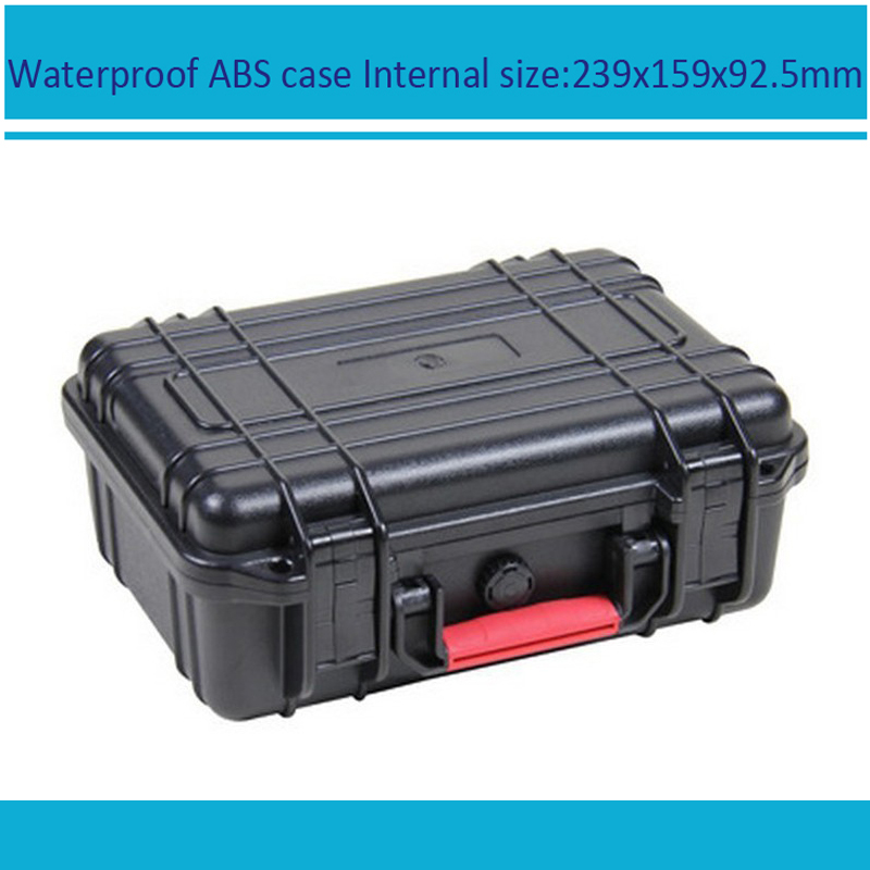 Tool Case Toolbox Suitcase Impact Resistant Sealed Waterproof Safety ABS Case 239x159x92mm Spare Part Kit Camera Case With Foam