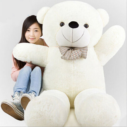 180CM/1.8M giant stuffed teddy bear big huge animals kid baby plush toy dolls life size teddy bear girls toy 2018 New arrival cheap 340cm huge giant stuffed teddy bear big large huge brown plush soft toy kid children doll girl birthday christmas gift