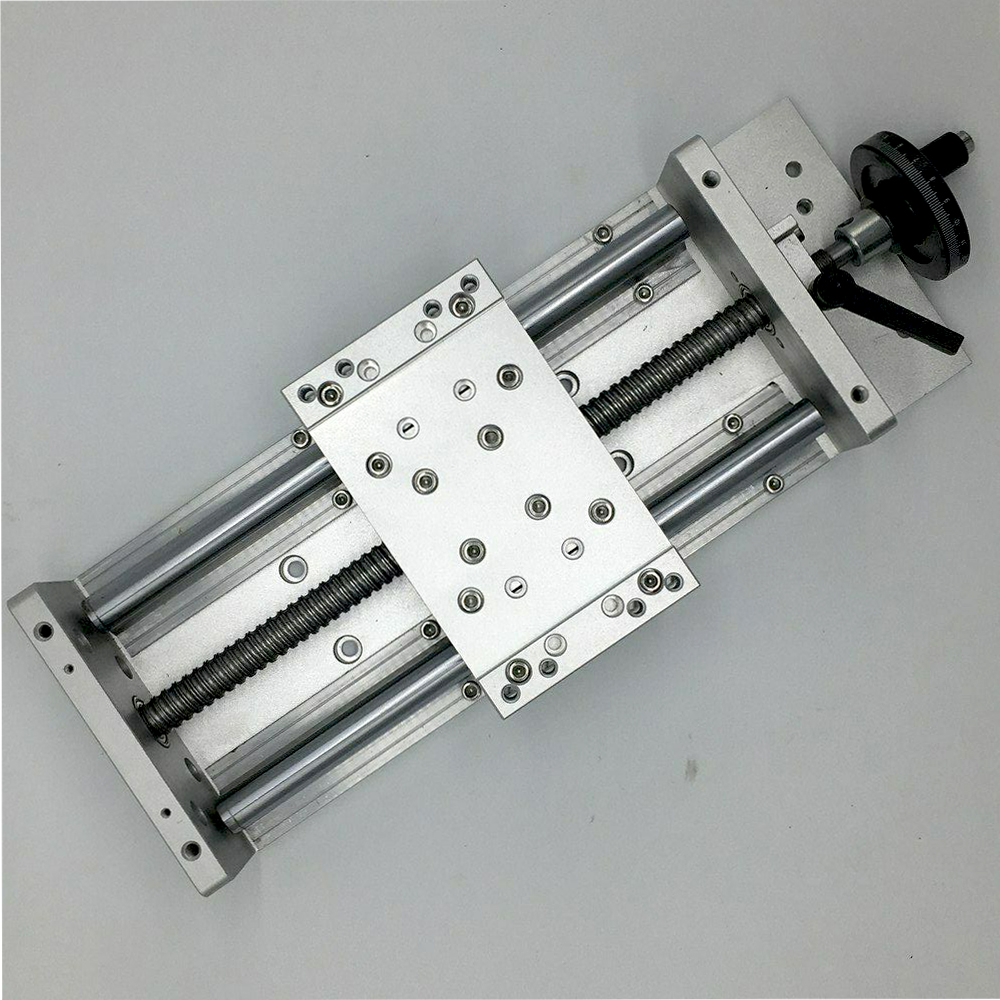 Precision C7 Slide Linear Stage 200MM Stroke Heavy Load Manual Sliding Table With Handwheel Slide Linear Stage SFU1605