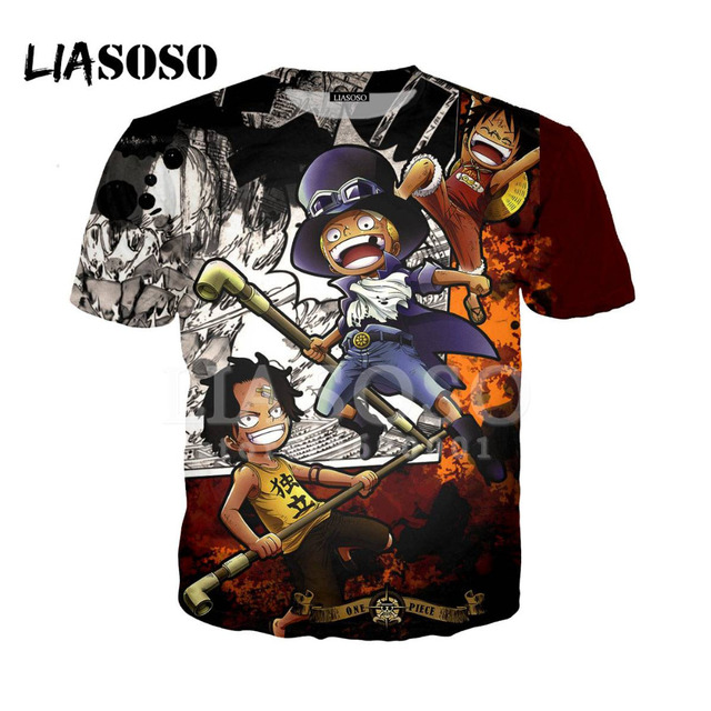 e810aab1 LIASOSO 3D Print Women Men Tshirt Summer Anime One Piece Luffy Sanji  Chopper T-shirt Hip Hop Pullover Fashion Short Sleeve X0942