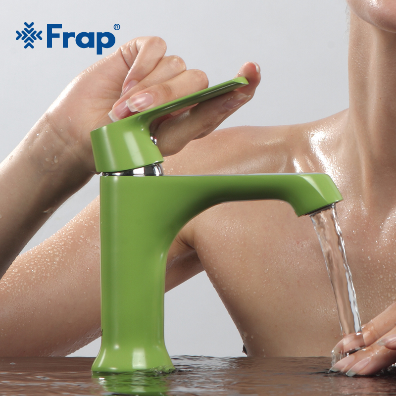 FRAP modern Style kitchen sink faucet Bath Basin Faucet Cold and Hot Water Taps Green bathroom bathtub shower faucet mixer H33