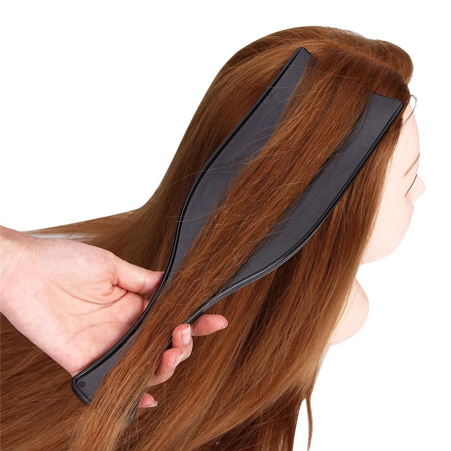 חדש הגעה kanbuder 1 pc שחור מקצועי ללא שיניים גדול במיוחד רחב לוח שיער הצבעים מדגיש סלון ברבר כלי