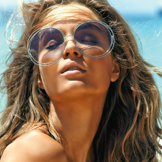 9467b7d56a1cd Fashion Sunglasses Classic Metal Wire Frame Women Big Frame Round Glasses  Vintage Brand Designer Sun Glasses