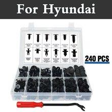 240x push фиксатор комплект, черный нейлон клип Пластик заклепки чехол для хранения Hyundai акцент Аслан atos Avante Centennial Tuscani Verna