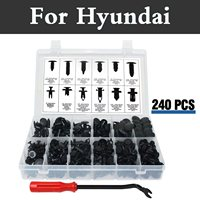 240x Push Retainer Kit,Black Nylon Clip Plastic Rivet Storage Case For Hyundai Accent Aslan Atos Avante Centennial Tuscani Verna