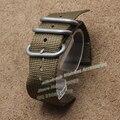 Correa de Nylon de 22mm 24mm venda de reloj militar de nylon correa De La Otan Zulu hebilla de acero inoxidable Anillos de Dos piezas estilo de La Moda