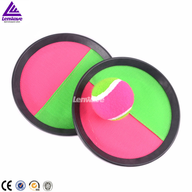 Lenwave Brand Ball Beach Racket For Child  Outdoor Interactive Sports +1 Pair Beach Racket And 1PC Ball