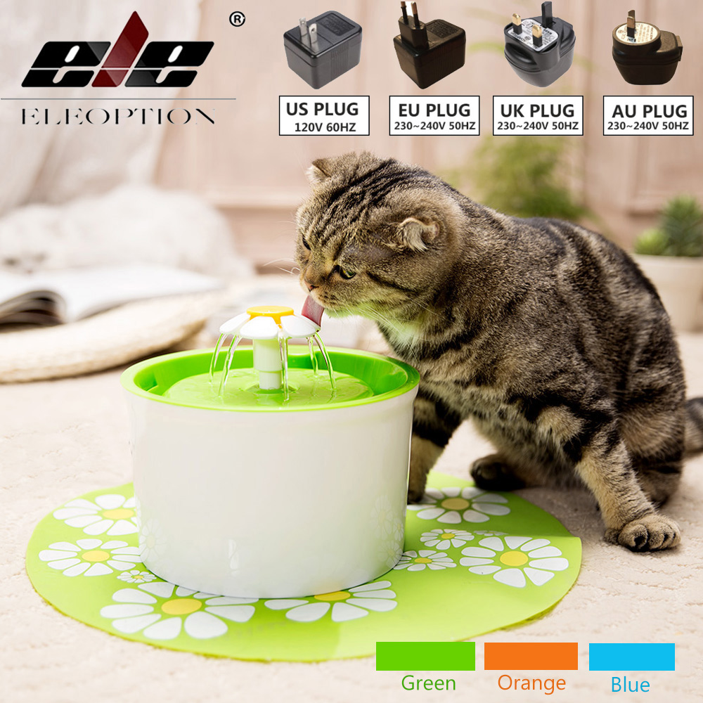 цена на Automatic 1.6L Cat Fountain Pet Feeder Flower Style Pet Bowl Drinking Fountain Cat flower Drink Dish Filter Cat Water Dispenser