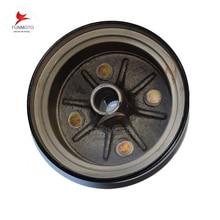 JIANSHE250-3/5/LONCIN 250  ATV rear whee rim  drum  brake  cover  27 tooth plain tooth for old model of JS250ATV SSA0-009301-1