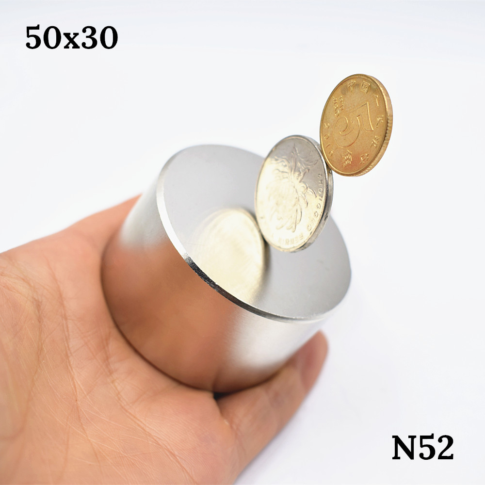 Strong Magnet N52 Dia 50x30 mm hot round Neodymium Magnet Rare Earth super powerful permanent magnetic gallium metal wholesale