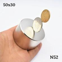N52 più forte Magnete 50x30 millimetri rotonda magnete Al Neodimio potente magnetico della Terra Rara permanente di super potente permanente mag