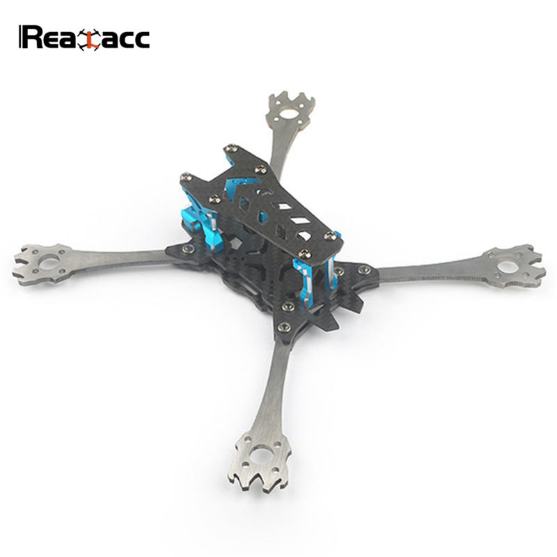 Realacc Real6 210mm Wheelbase 3mm Arm Titanium Alloy Carbon Fiber 5 Inch Frame Kit for RC Models Multicopter Motor Spare Part nidici kun h5 227mm qian h5 235mm wheelbase 5mm arm 3k carbon fiber 5 inch frame kit for rc models spare part blue red