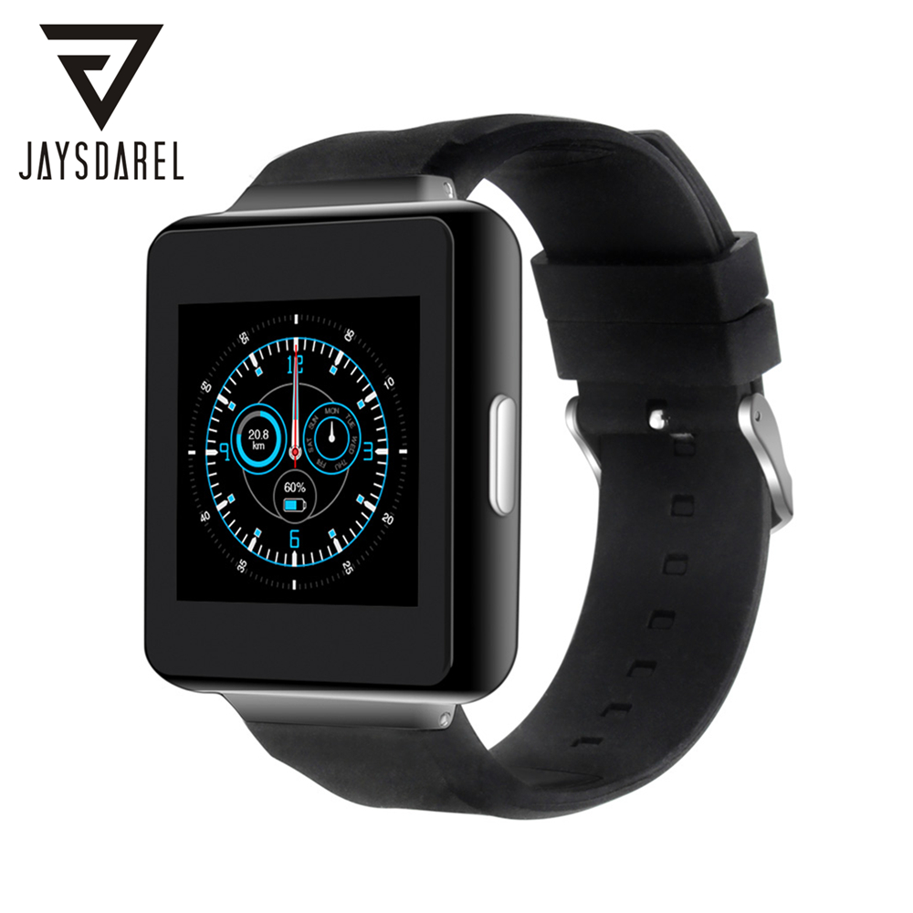 JAYSDAREL Brand K1 Android 5.1 OS Smart Watch Heart Rate Monitor Support Sim Card GPS Bluetooth 3G WiFi GPRS PK DZ09 GV18 GT08 no 1 g6 asia bluetooth 4 0 heart rate monitor smart watch black