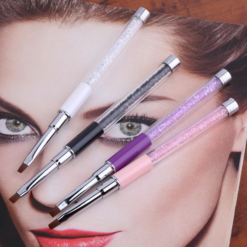 Crystal Gel Nail Video: 1Pc Nail Art Care Tools Crystal Gel Pen Brush Handle Nail