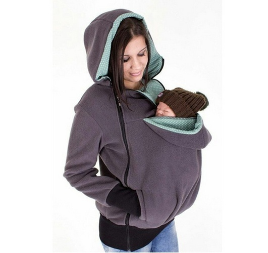 2016 New Promotion Baby Carrier Jacket Kangaroo Winter Maternity Outerwear Coat For Pregnant Women Thickened Pregnancy Wearing
