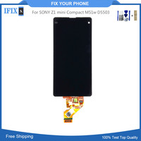 For SONY Z1 mini Compact M51w D5503 LCD Display Glass Digitizer With Touch Sensor Assembly Phone Replacement Case