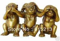 Wang 00067 3 Collecte statue de bronze de singe