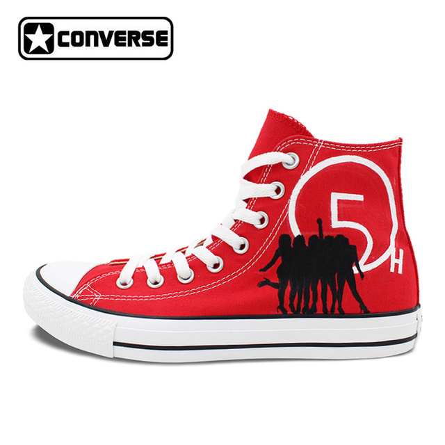 boys red converse