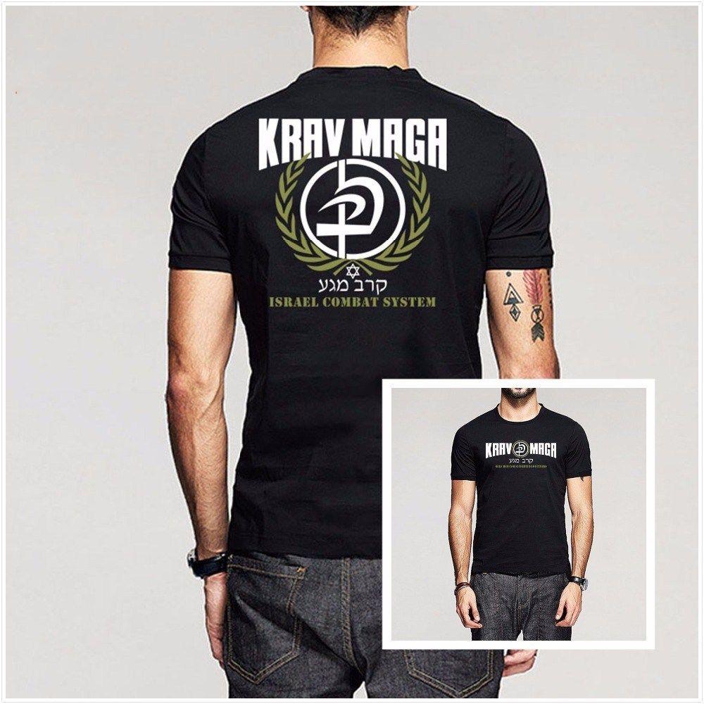 2019 Fashion Double Side Krav Maga Israel Combat System Self Men'S T Shirts Unisex Tee