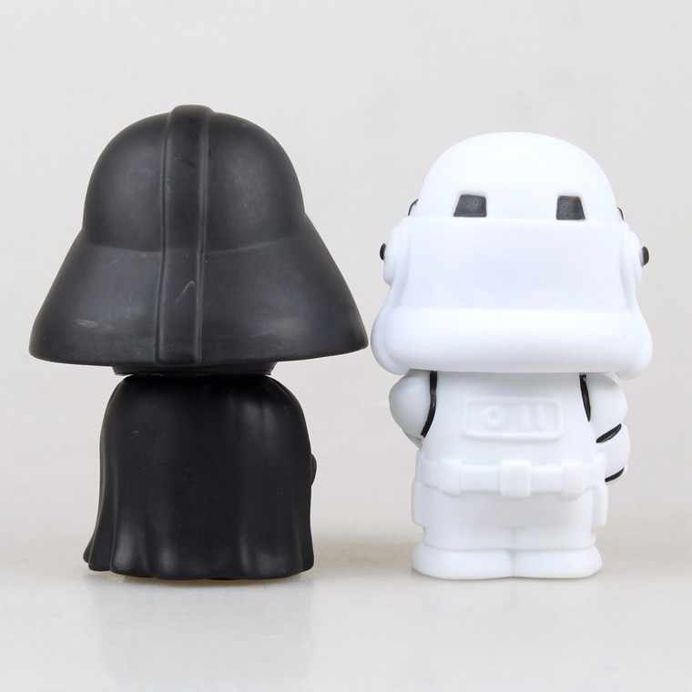 10cm 2 teile/los Nette Stil Star War Darth Vader Kawaii Film Action Figur Modell Spielzeug