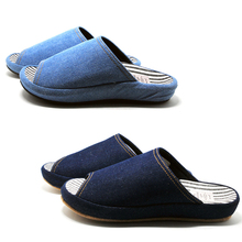 High Quality Curved 3D Sole Comfort Seasons Slippers Women and Man Denim Slippers Can Be Outside Adult TPR Slip Slippers pantufa