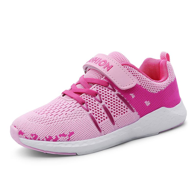 4f7c9d22fd3ed 2018 New Flyweave Cute Girls Shoes Kids Boys Running Shoes Childrens  Outdoor Sport Walking Sneakers Summer Breathable