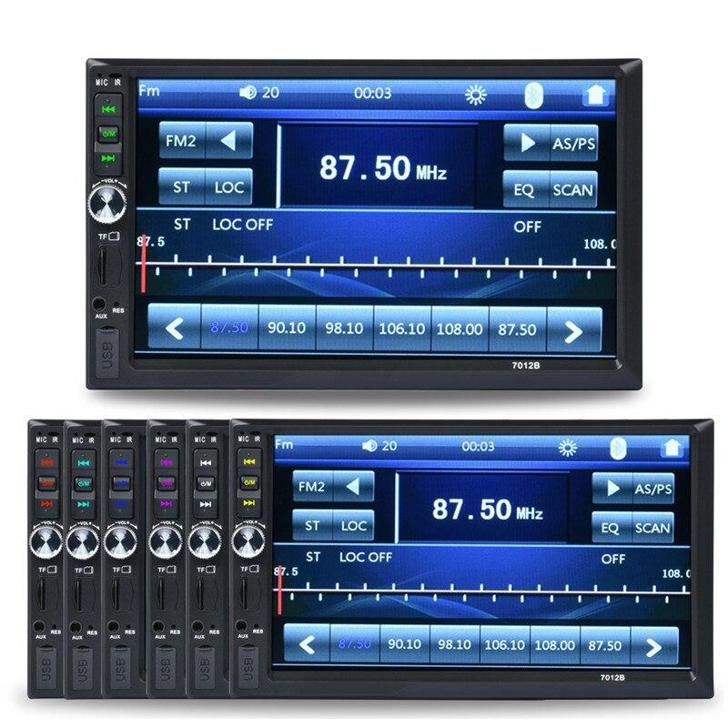 7 pulgadas dual core bluetooth tft pantalla 2-din car audio estéreo Reproductor