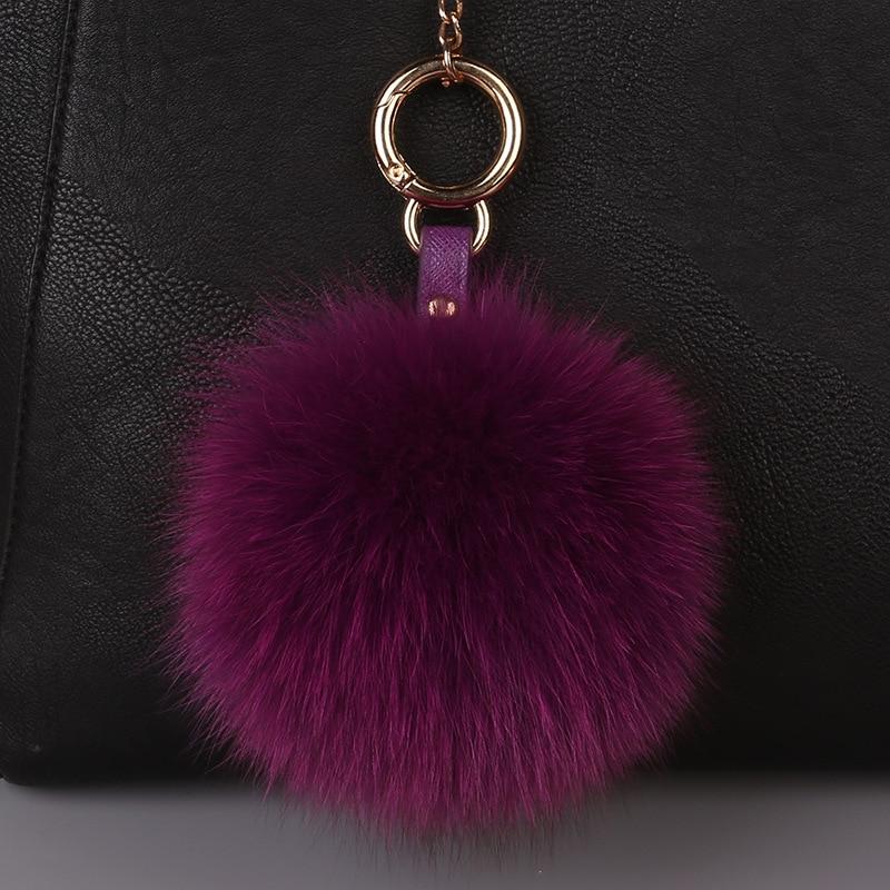 Llavero 13cm Fluffy Car Keychains Fox Fur Ball Pompons Keyring Fur Pom Pom Key Chain for Women Charm Shoulder Bags Key Holder off shoulder pom pom trim top with shorts