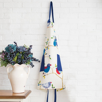 Cute Owl Apron Korean Fashion Cooking Kitchen Chef Apron For Women Waiters Household Cleaning Adjustable Cotton
