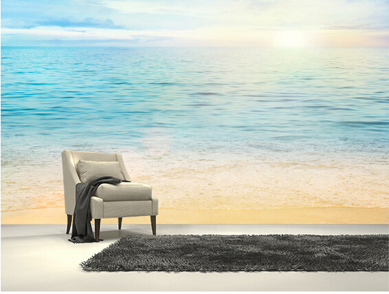 Custom modern wallpaper,Sea and Sand,3D photo natural scenery wall mural for living room bedroom kitchen background wallpaper custom baby wallpaper snow white and the seven dwarfs bedroom for the children s room mural backdrop stereoscopic 3d