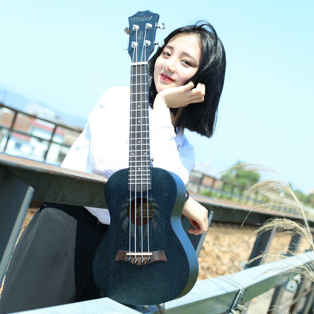 Professional 23 Inch Soprano Uke Hawaii Guitar  18 Fret Wood Ukulele 660D acouway 21 inch soprano 23 inch concert electric ukulele uke 4 string hawaii guitar musical instrument with built in eq pickup