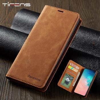 Leather Flip A51 A71 A21S Case For Samsung S21 S20 FE S10 S9 S8 Plus Ultra A52 A72 A02S A32 A12 A50 A70 A40 S7 Edge Phone Cover 1