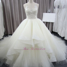 JULIA KUI Robe De Mariage Wedding Dress Floor Length