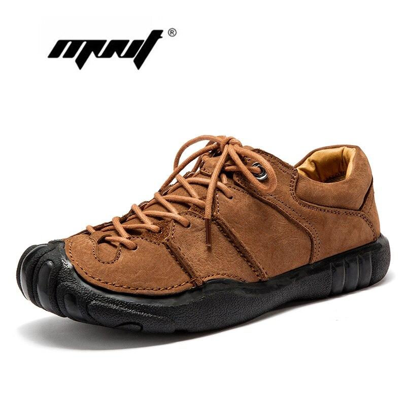 Натуральная кожа Винтаж Мужская обувь Кружево до Повседневная кожаная обувь Высококачественные туфли на плоской подошве на платформе неск...