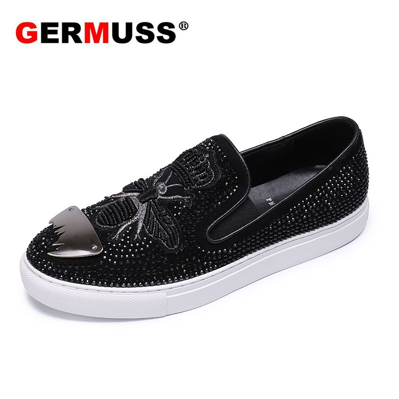 Autumn Genuine Leather luxury brand men's shoes fashion loafers men sneakers boat Animal Prints designer Slip on Dropshipping