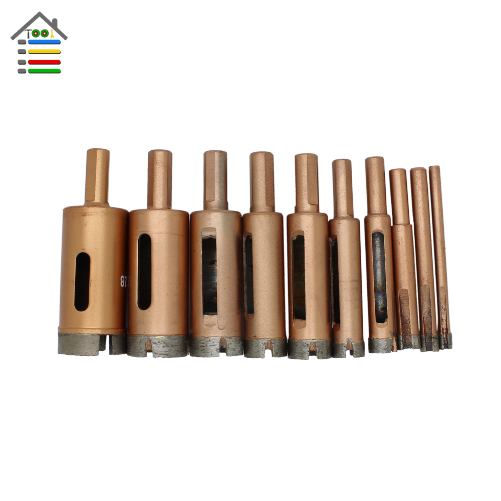 New 6-40mm Professional Marble Granite Ceramic Tile Core Drill Bits Diamond Hole Saw Drill Bits Glass Holesaw 14mm diamond hard alloy triangular needle drill bits tapper ceramic china tile glass marble granite cement board hole saw