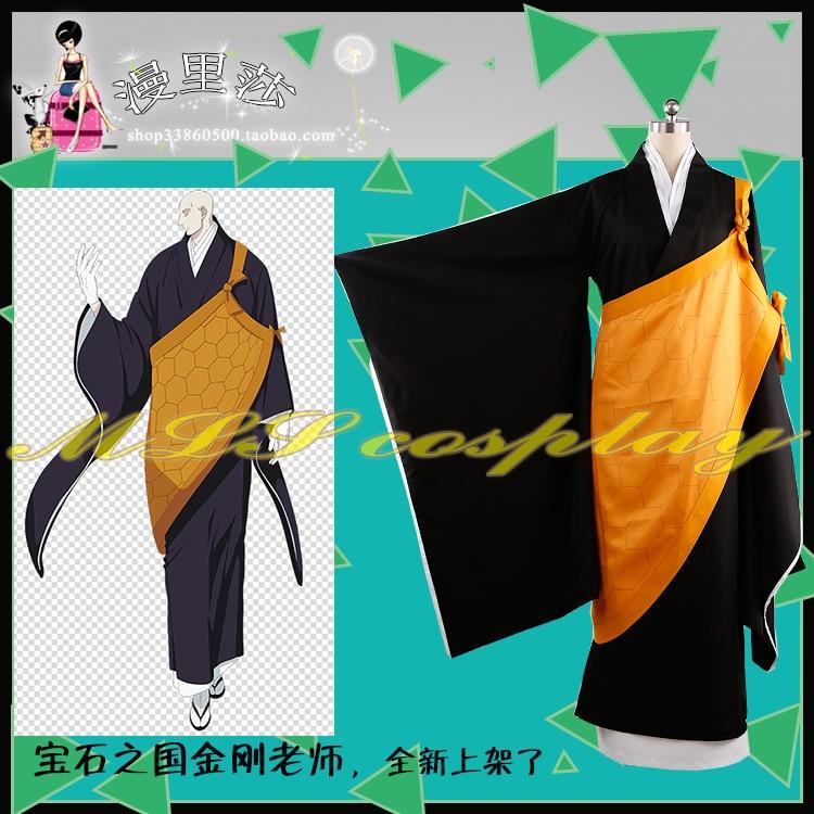 Kingdom of Gems Houseki no Kuni Gems Kongo Sensei Outfit Cloak Cosplay Costume twelve gems