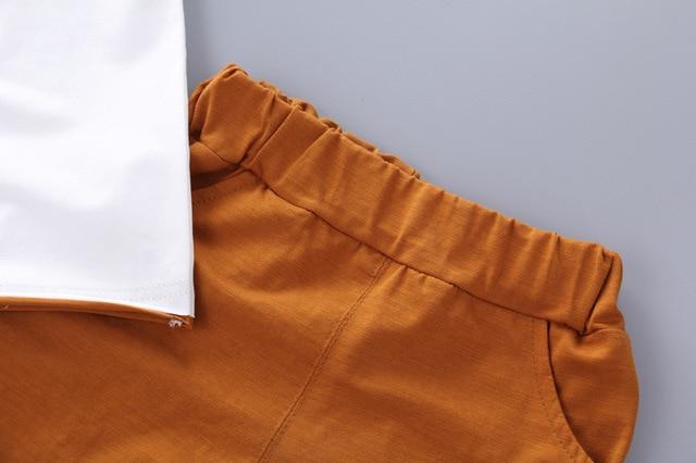 Newborn New Stat Clothing Sets For Baby Boy T-shirt+ Shorts Pants 2 Pcs Clothes Sets 4