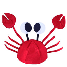 MUSEYA Halloween Funny Hats for Party Unique Cute Crab Hat Cap for Easter Halloween Christmas Party Decoration Supplies Red(China)