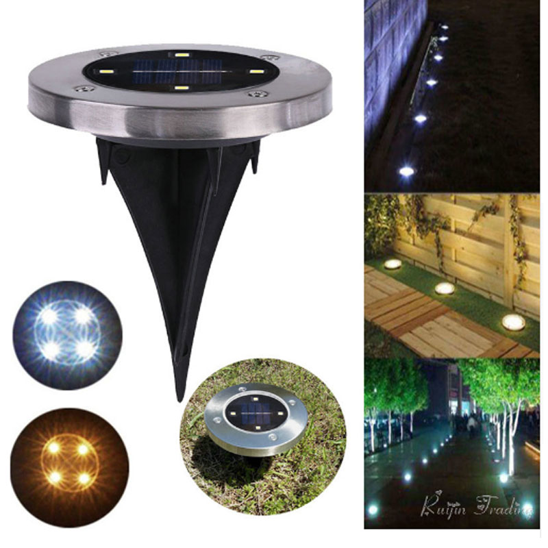 LED Solar Light Outdoor Ground Water-resistant Path Garden Landscape Lighting Yard Driveway Lawn Pond Pool Pathway Night Lamp yunlights solar ground lights waterproof 5 led landscape path light walkway lamp for home garden yard driveway lawn