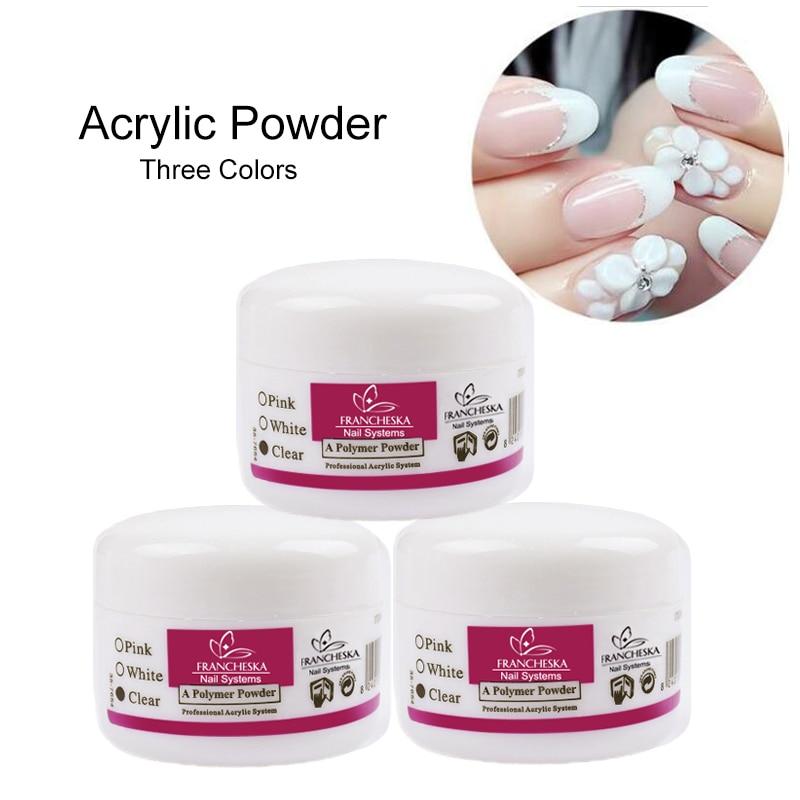 Acryl Pulver Kristall Nagel Polymer Nail Art Tipps Builder Falsche Tipps Werkzeuge Acryl Pulver Für Nagel Weiß Klar Rosa Farbe Schönheit & Gesundheit Nails Art & Werkzeuge