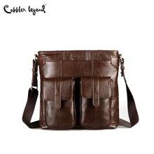 c3dd033b1986 Cobbler Legend 2017 New Arrival Men s Shoulder Bag Briefcase Satchel  Genuine Cowhide Leather Messenger Bags For Men Portfolio
