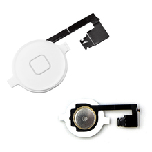 Black, White Home Button Assembly Flex Cable Sensor Ribbon Complete Parts For iPhone 4 Compatible: for iPhone 4
