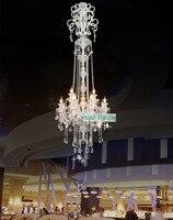 Longest Chandelier H2 2 5M LED Crystal Chandeliers Candle Led Light Modern Luxury Lamps For Villa