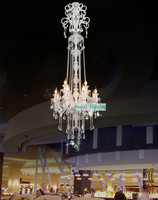 Longest Chandelier H2 2 5M LED Crystal Chandeliers Candle Led Light Modern Luxury Lamps For Villa