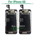 Para iphone 6 s lcd screen display com tela de toque digitador assembléia com botão home branco & preto frete grátis
