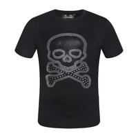 PP bag packaging!Mens Designer T Shirt Men new t shirt fahion Crystal Bone print 100% cotton tshirt funny high quality plus size