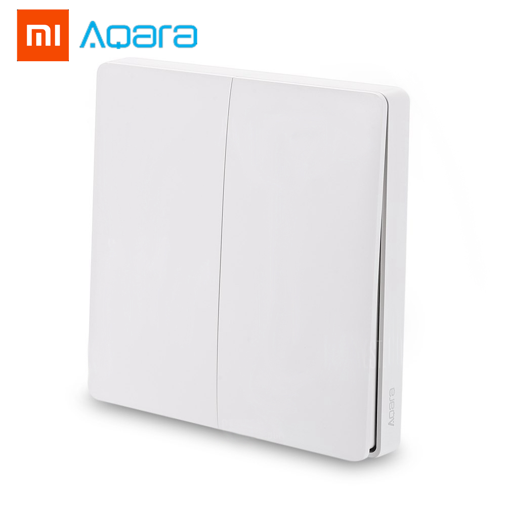 все цены на 2018 Xiaomi Aqara Upgrade Wireless Switch Double Button Key Smart Light Control ZigBee Version for Mi Home APP Gateway